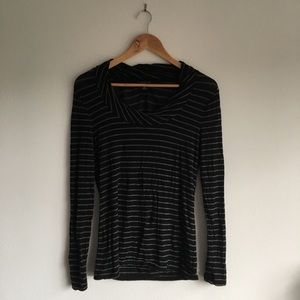 Banana republic crewneck striped stretch sweater